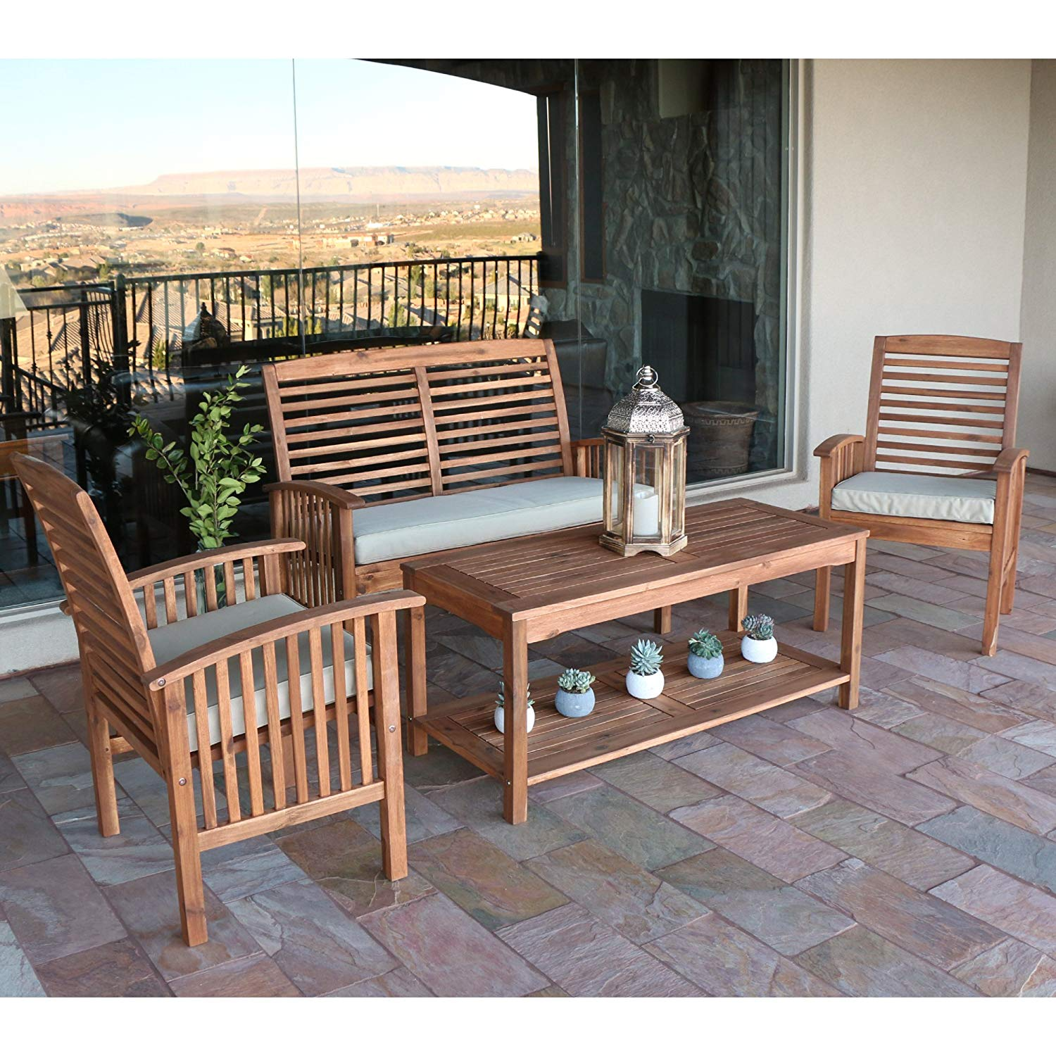 Acacia Wood Durability For Outdoor Furniture: [Review] Solid Acacia Wood 4-Piece Patio Set By Walker