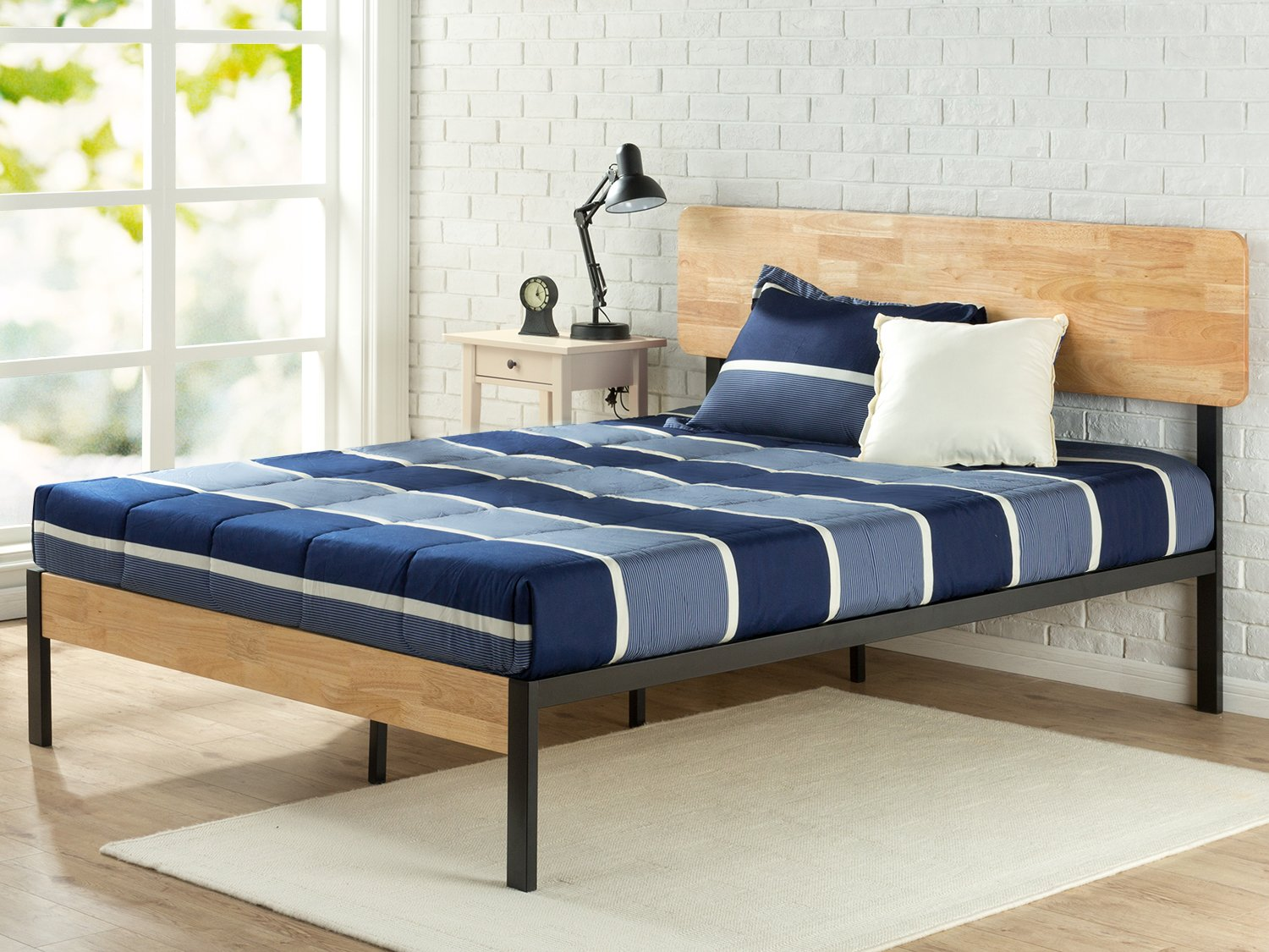 Review Zinus Olivia Metal And Wood Platform Bed With